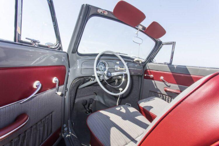 interior of Volkswagen Karmann Beetle Cabriolet