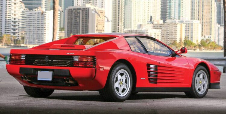Rear of Ferrari Testarossa