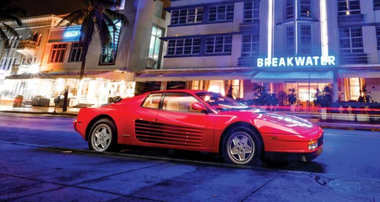 Neon Lights of the Ferrari