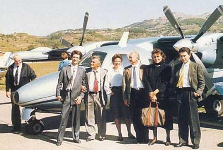 Romano Artioli , Jean-Marc Borel, Ferruccio Lamborghini, Paolo Stanzani, and Marcello Gandini
