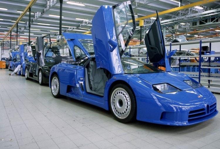 Bugatti factory working on Bugatti EB110