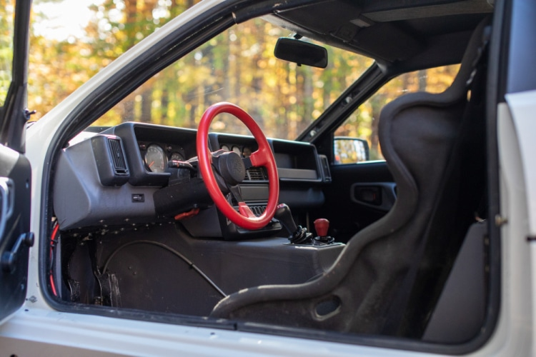 Interior of 1986 Ford RS200 Evolution