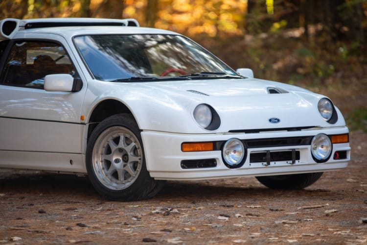 Exterior of 1986 Ford RS200 Evolution