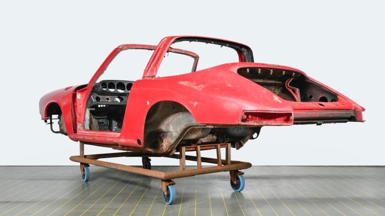 Rear of the car body