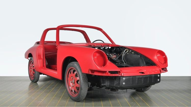 Repainted body in red of 1967 Porsche 911 S Targa
