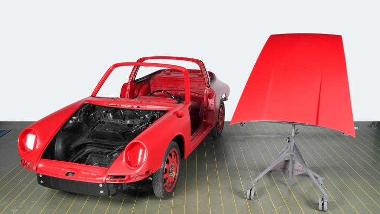 recoating car in protective layer