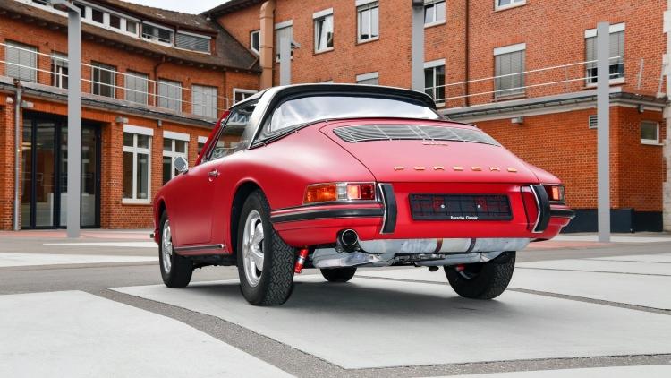 Restored rear of 1967 Porsche 911 S Targa