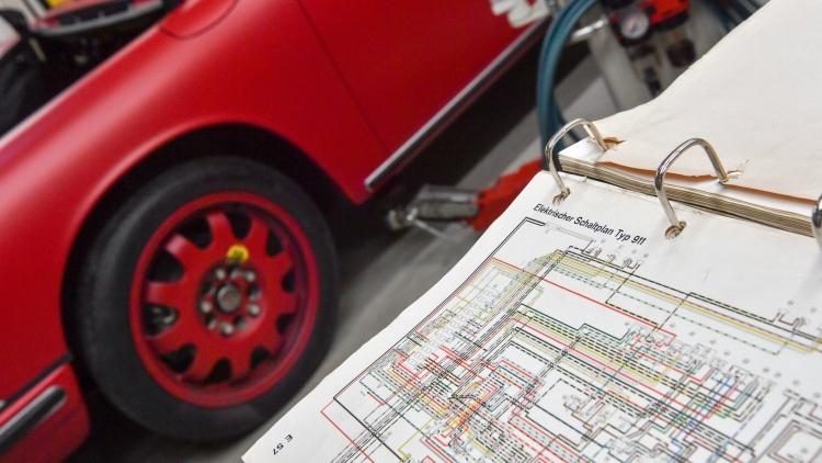 Blueprints of the car