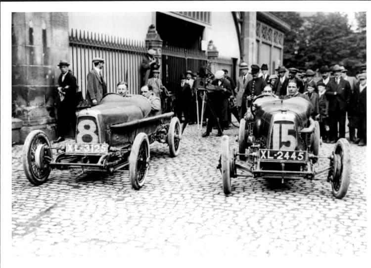 Clive Gallop and Count Zborowski before Grand Prix
