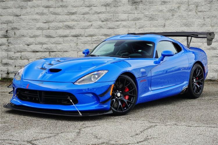 Blue Dodge Viper ACR