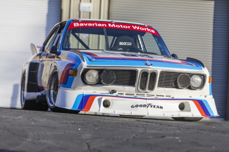 front of BMW 3.5 CSL IMSA