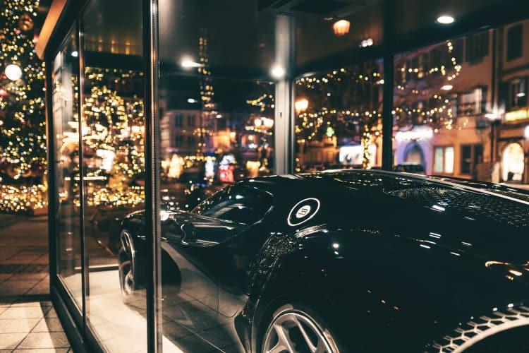 Bugatti La Voiture Noire under glass