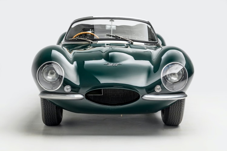 front of 1956 Jaguar XKSS