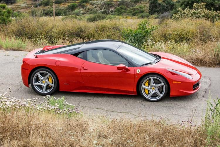 side of the Ferrari 458 Italia