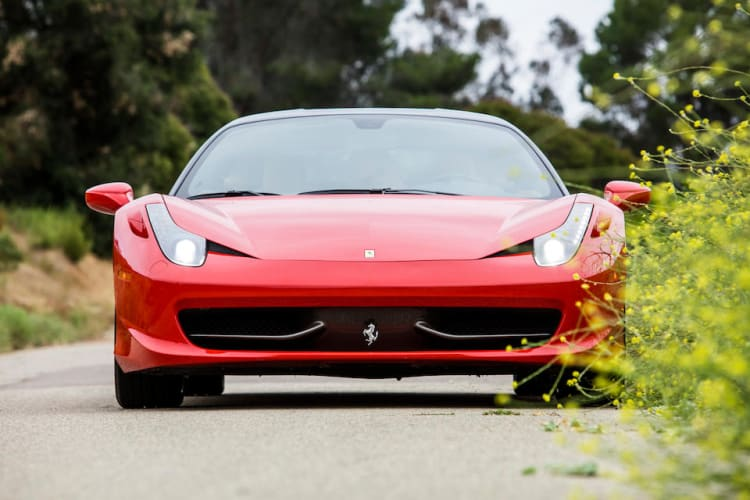 front of the 458 Italia