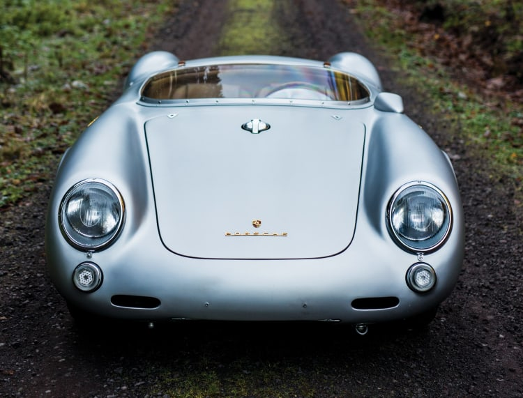 front of Porsche 550 RS Spyder