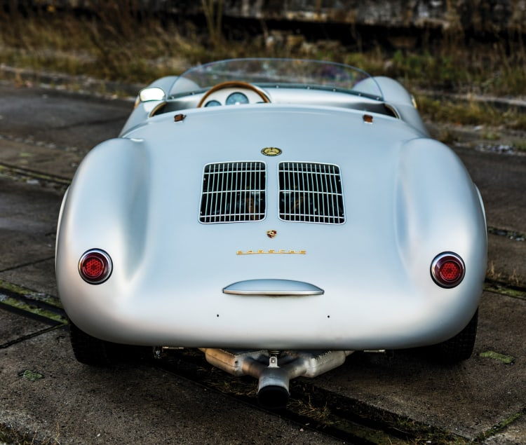 Rear of Porsche 550 Spyder