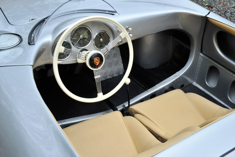 interior of Porsche 550 Spyder