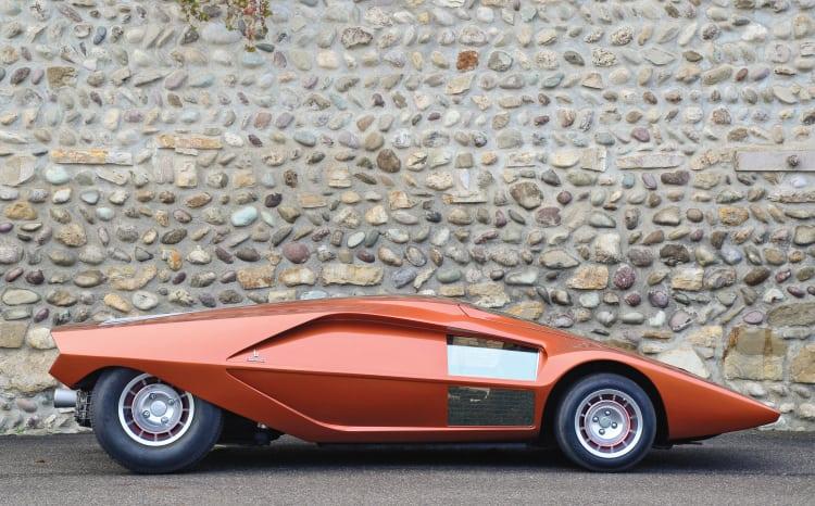 side profile of Lancia Stratos HF Zero