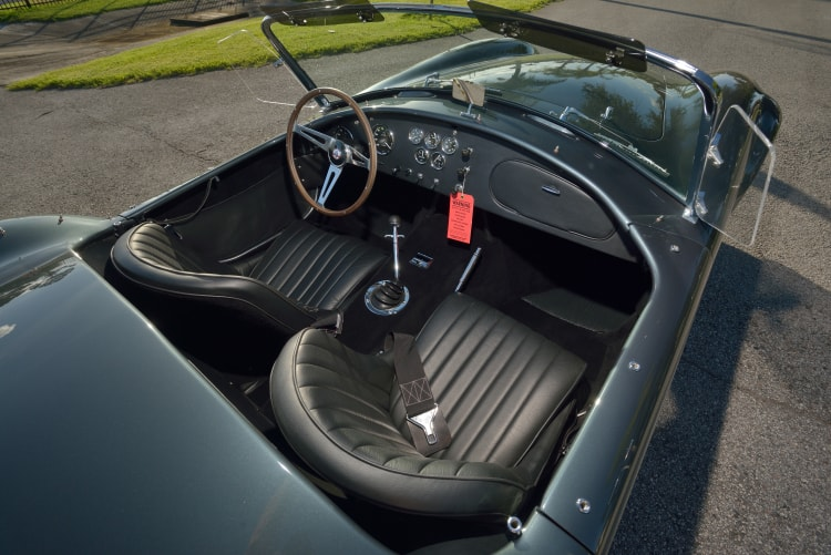 interior of AC Cobra