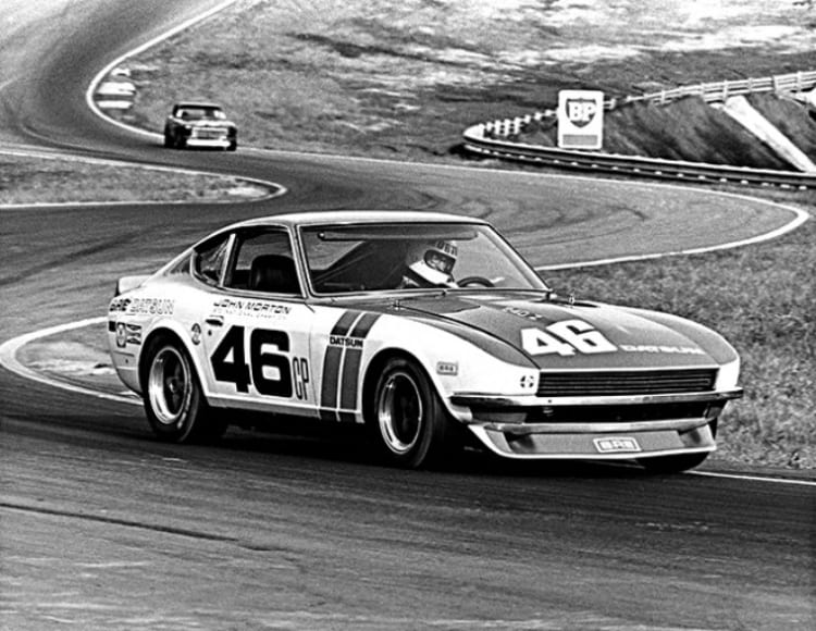John Morton racing the BRE 240Z