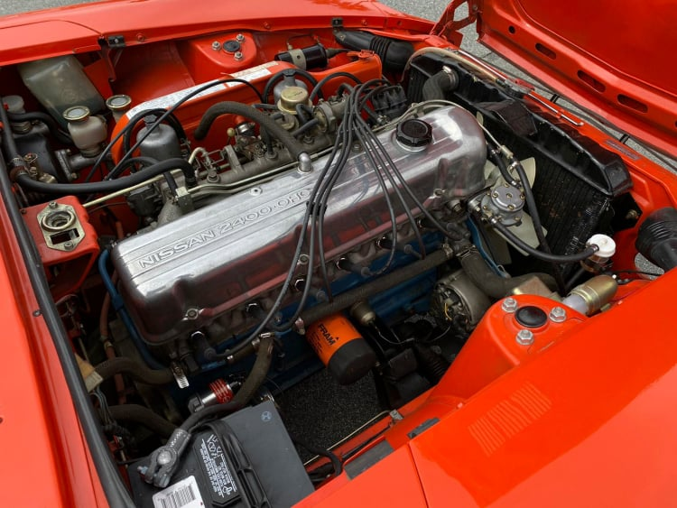 2.4-liter single-overhead-cam straight-six engine