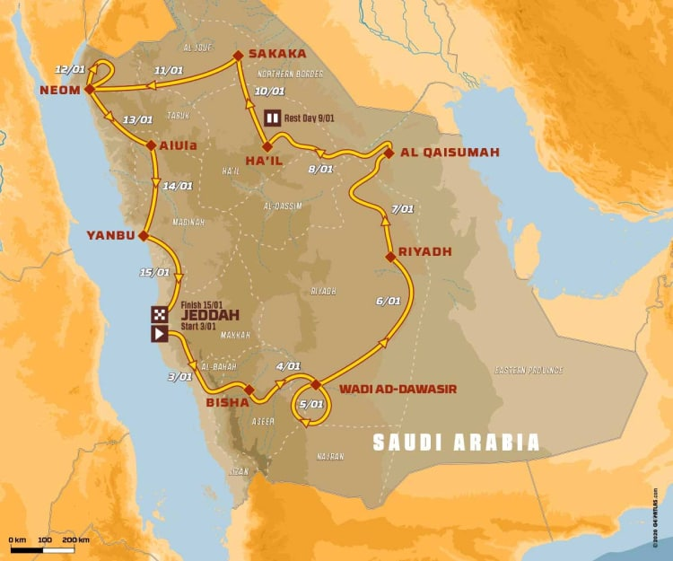 2021 Dakar Rally Route