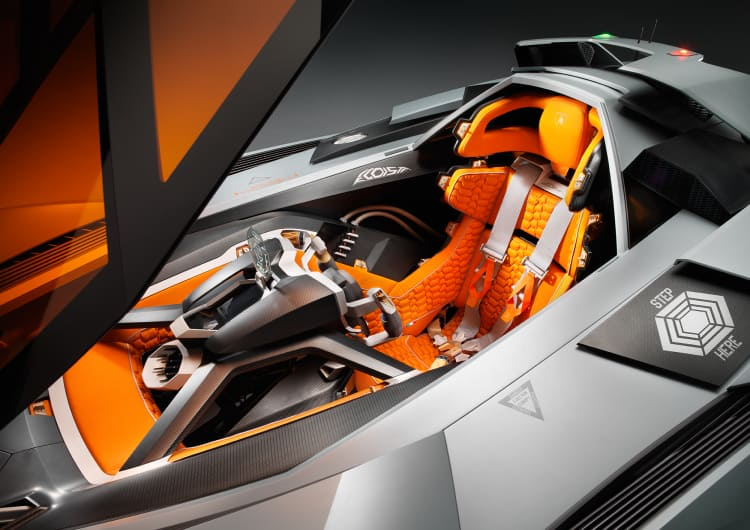 interior of the Lamborghini Egoista