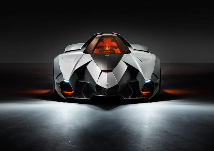 front of the Lamborghini Egoista