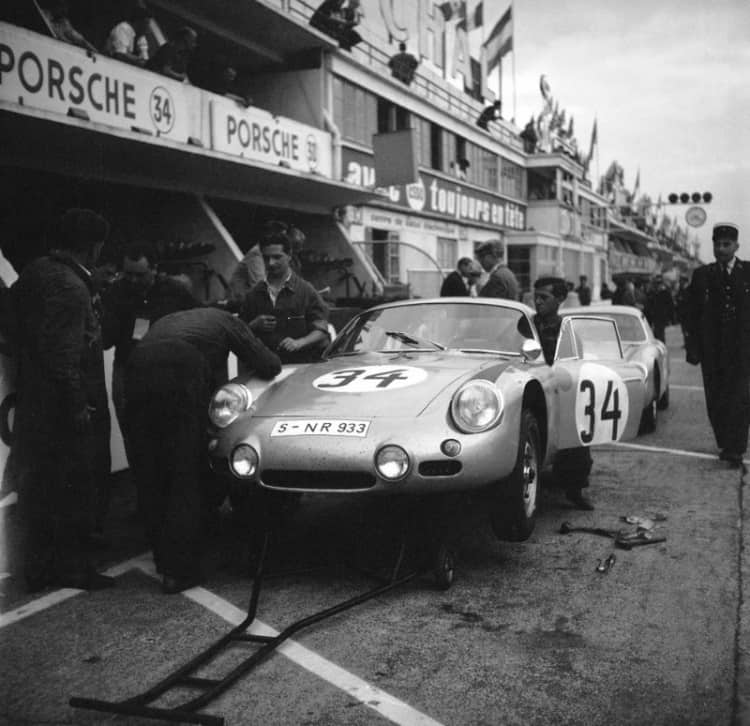 Porsche 356 B 1600 GS Carrera GTL Abarth at Le Mans 1962