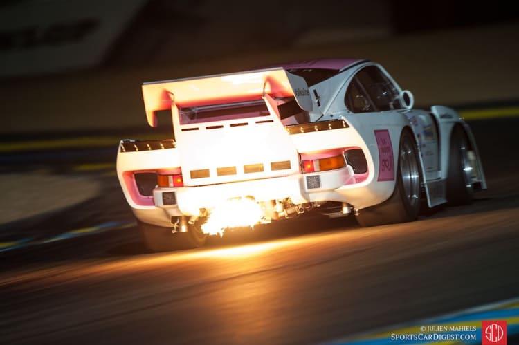 flames in exhaust