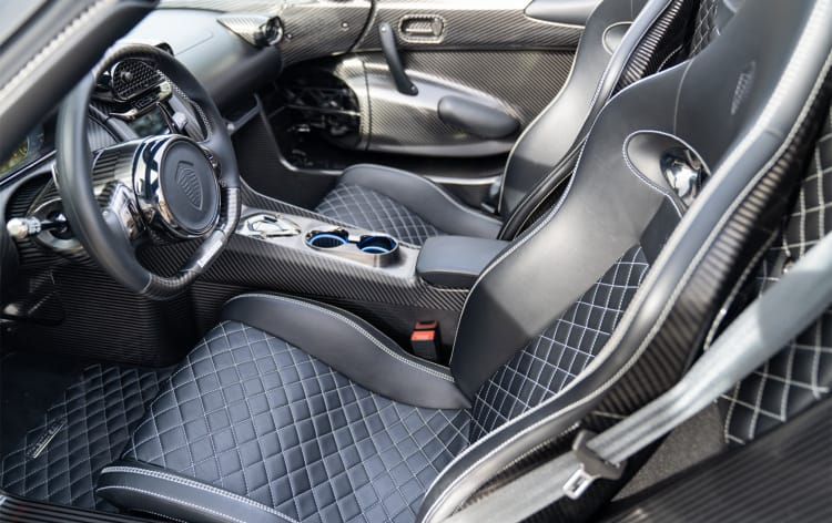interior of Koenigsegg Regera