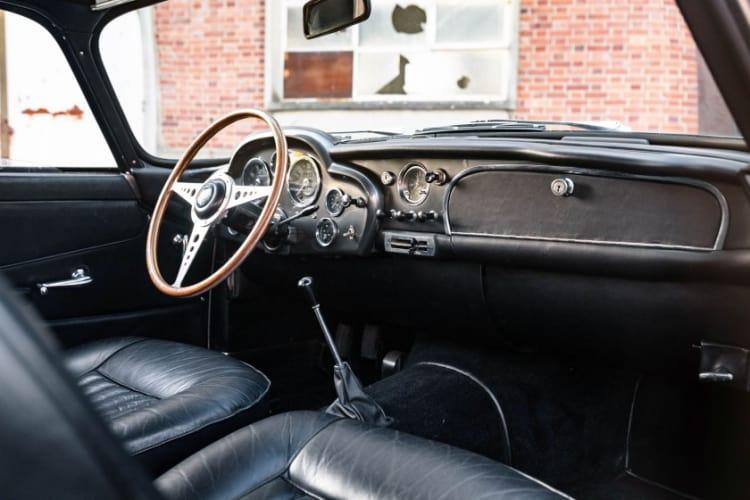 interior of 1961 Aston Martin DB4 GT