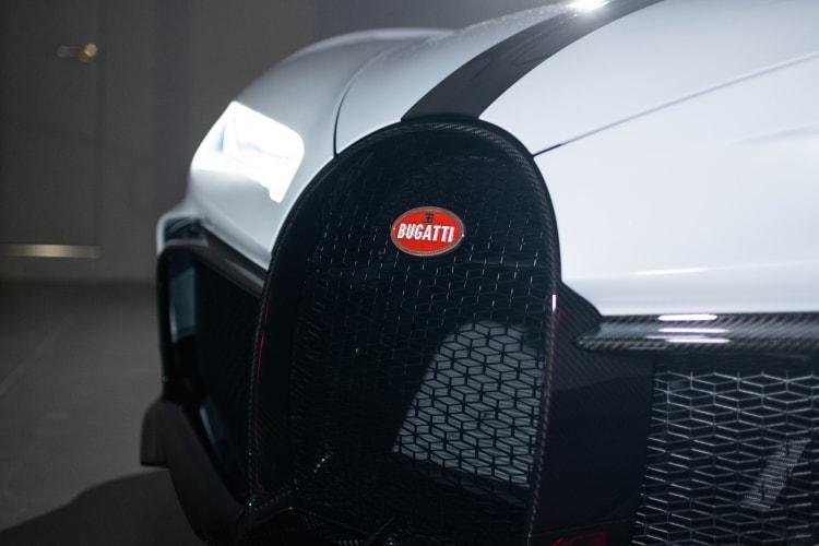 Grille of the Bugatti Chiron Pur Sport