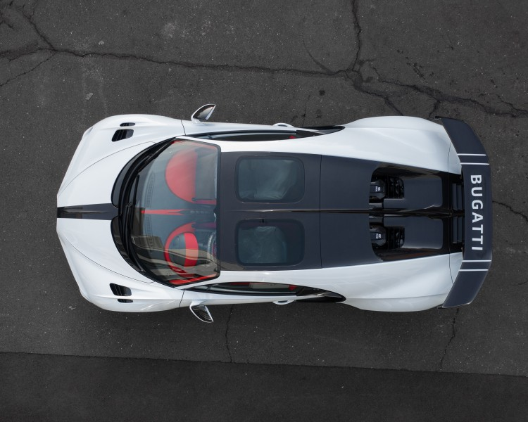 Birdseye view of the Chiron Pur Sport