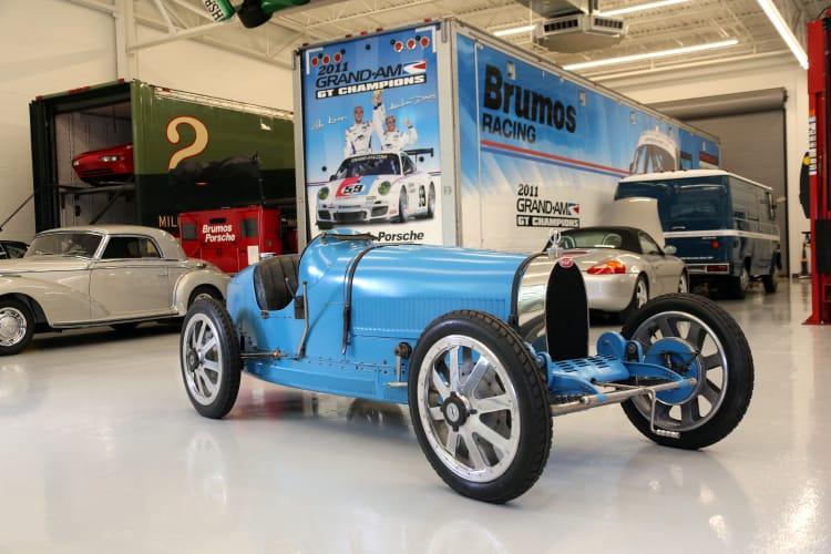 side of 1925 Bugatti Type 35