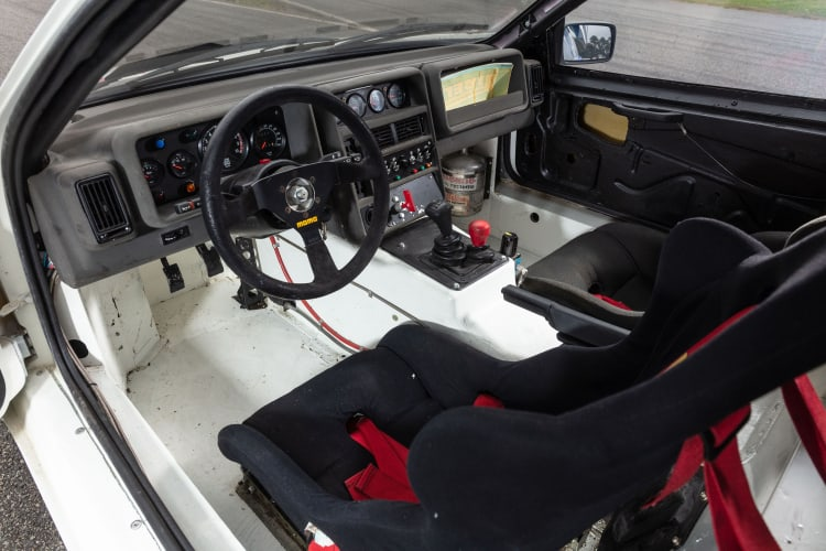 interior of 1986 Ford RS200 factory