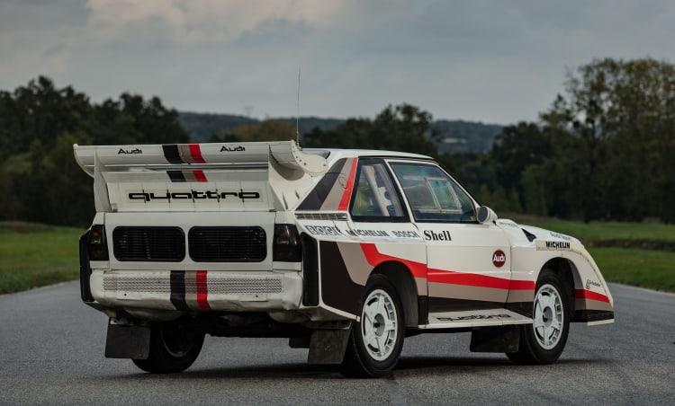 rear of 1988 Audi Sport Quattro S1