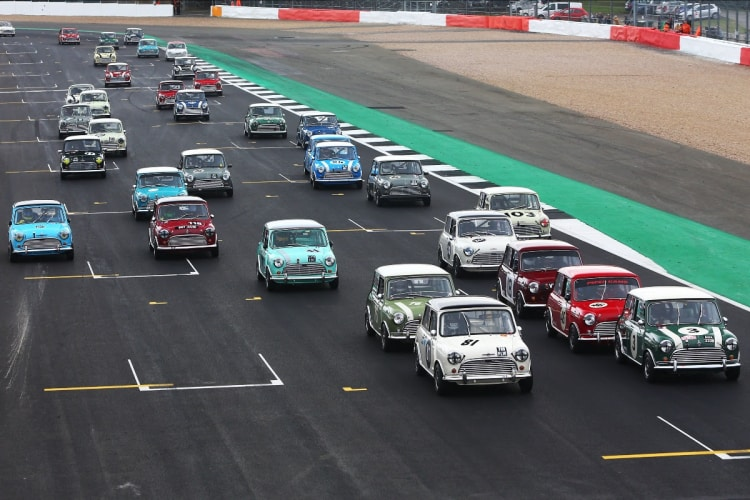 Mini Cooper racing at The Classic