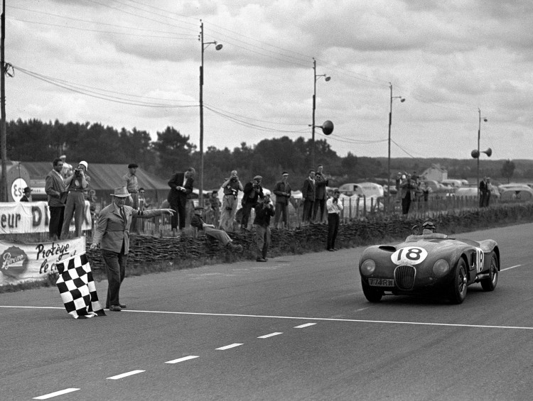 Tony Rolt and Duncan Hamilton is victorious in the 1953 Le Mans 24 Hours
