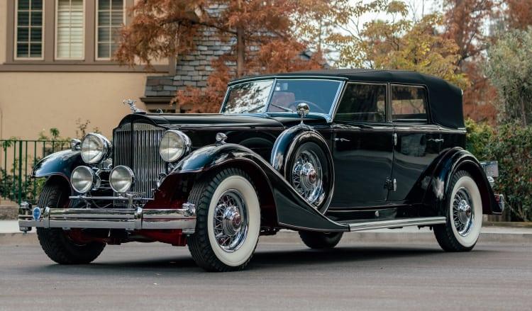 1933 Packard Twelve Individual Custom Convertible Sedan by Dietrich