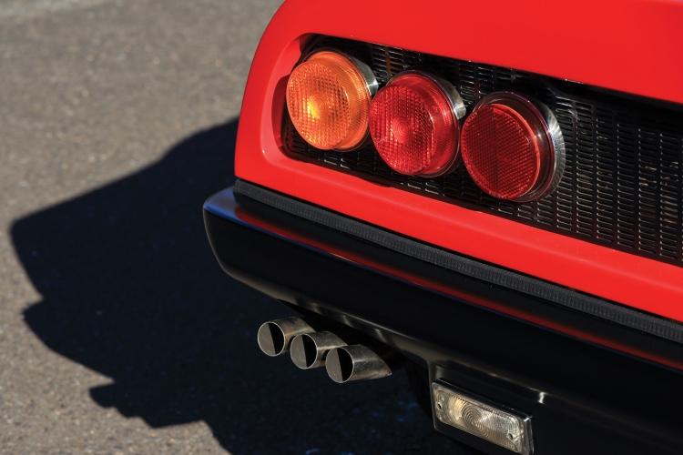 Exhaust of Ferrari 365 GT4 BB