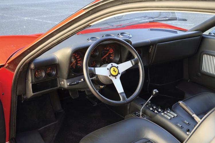 interior of Ferrari 512 BB