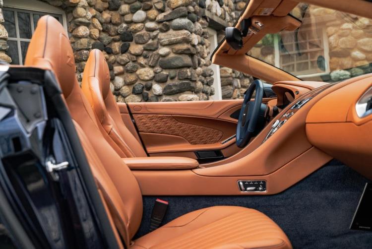 interior of 2018 Aston Martin Vanquish Zagato Volante