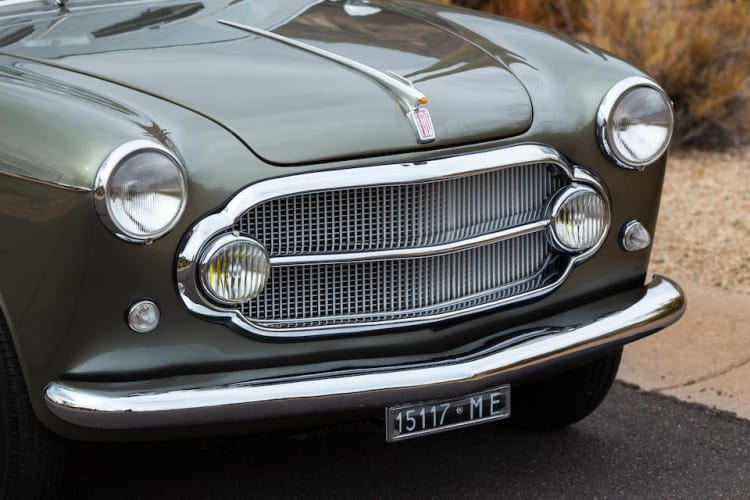 grille of 1954 Fiat 1100/103 Turismo Velcoe Charmant Coupe