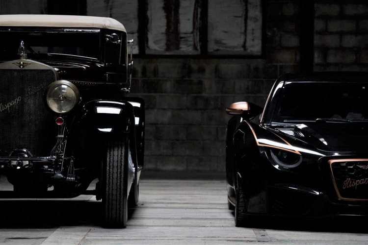 Two generations of Hispano Suiza side by side