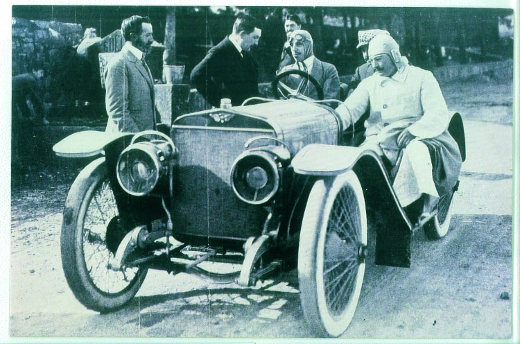 King Alfonso XIII with the Hispano Suiza car model