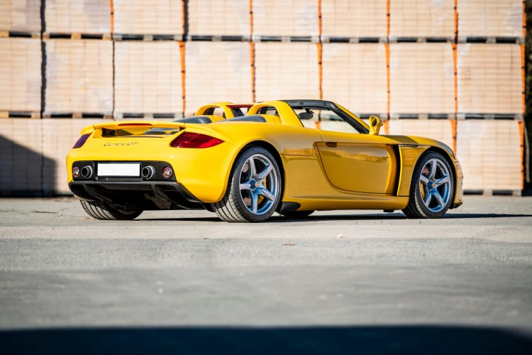 rear of the 2004 Porsche Carrera GT