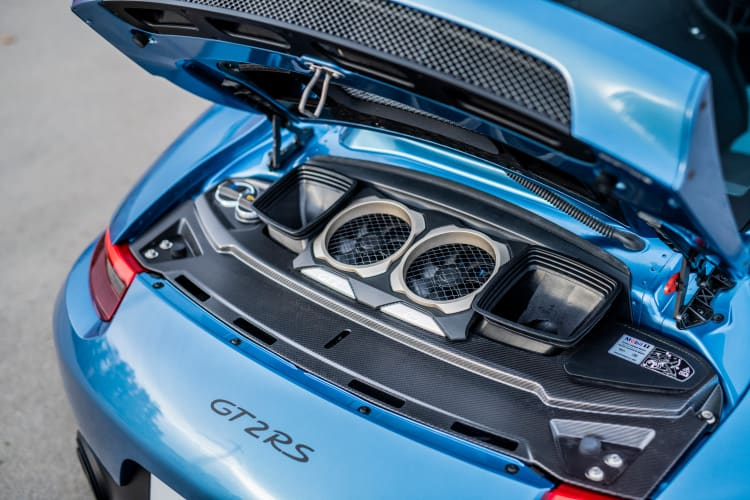 engine of 2018 Porsche 911 GT2 RS 'Weissach'
