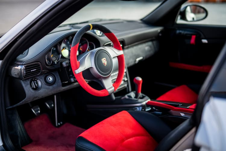 interior of the 2010 Porsche 911 GT2 RS